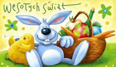 Idą święta wielkiej nocy, maluj jajca bez pomocy. Jedno czarne drugie białe i miej życie doskonałe, Idź je święcić jak co roku, te w koszyku, nie te w kroku. A gdy wszystko będzie przygotowane, to święta na pewno będą udane. :)